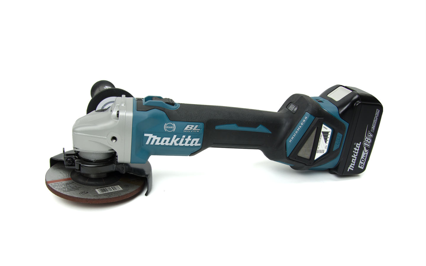 Makita battery angle grinder DGA 513 RTJ